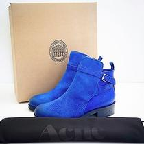Acne Studios Suede/leather Blue Clover Ankle Booties Eu 40 Us 10 Shoes Boots Photo
