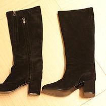 Acne Studios Sweden Long Black Suede Boots Shoes Size Eu 40 Us 9 Photo