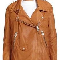 Acne Studios Swift Camel Leather Size 38 Motorcycle Jacket Photo
