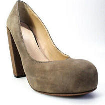 Acne Studios Womens Round Toe Slip on Chunky Heel Pumps Brown Leather Size 40 10 Photo