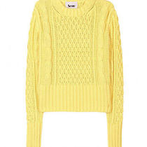 Acne Studios Yellow Lia Cable Knit Pullover Photo