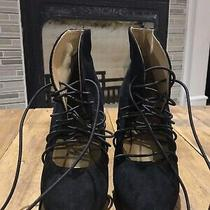 Acne Suede Lace Up Booties  Photo