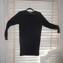 Acne Sweden  Art to Wear  Navy Wham Style Knit Bodycon Dress Tunic  L Photo