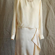 Acne Sweden Stunning Blush Coloured Silk Asymmetric Dress. Photo