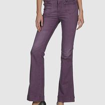 Acquaverde Purple Jeans Vintage Style 70s 28x34 Women Boot Cut Photo