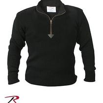 Acrylic Commando Sweater 1/4 Zip - Black Photo