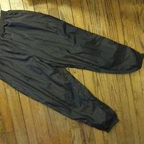 Active Elements Black Nylon Warm-Up Pants     Size 22w Photo