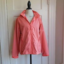 Active Lightweight Peach Land's End Jacket W/ Hood  Women's Size Medium Petite Photo
