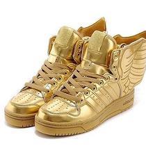 Addidas Jeremy Scott Gold on Gold Size 8.5 Photo