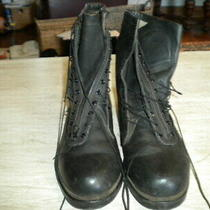 Addison Black Combat Boots 12 D Photo
