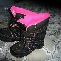 Addison Girl's Kids Winter Boots Black/ Pink    Size 13m   Youth Photo
