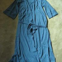 Addison Meadow Women's Medium Teal Robe Wrap Kimono Style Tie Belt 3/4 Sleeves Photo