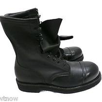 Addison Steel Toe Mens Black Leather Military Boots Combat Motorcycle  Nib 9.5 R Photo