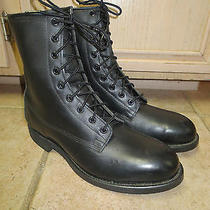Addison Steel-Toed Combat Boots Size 8 R New/unissued Made 30 March 1990 in Usa Photo