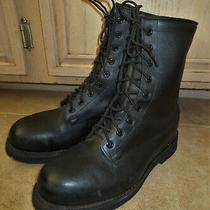Addison Steel-Toed Combat Boots Sz 7.5 Wide Exc Cond Made 02 August 2000 in Usa Photo