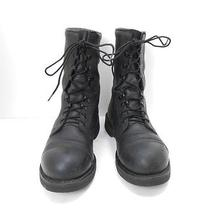 Addison Usa Safety Steel Toe Black Leather Military Motorcycle Boots Sz 9 Photo