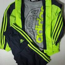 Adidas 3 Piece Set Toddlers Boys Sz 7 Yellow Blue Track Suit/outfit Pants Jacket Photo