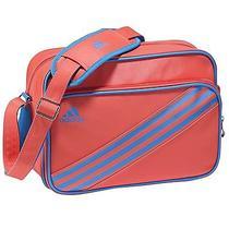 Adidas 3 Stripe Enamel Messenger Shoulder Bag Coral Orange Small Authentic Bnwt  Photo