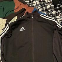 Adidas 3-Stripe Track Jacket for Men Medium - Black/white Photo