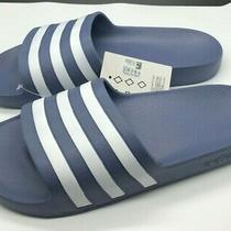 Adidas Adilette Aqua Shower Slide Womens Size 10 Blue Sandal Slipper Nwt Photo