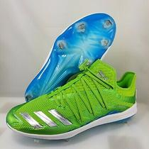 Adidas Adizero New Speed Baseball Cleats ( Size 13.5 ) Neon Green Blue F34363 Photo