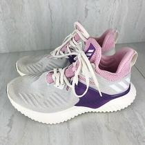 Adidas Alphabounce Beyond 2 Youth/ Girls F33984 Grey Pink Sneakers/shoes Sz 6.5 Photo