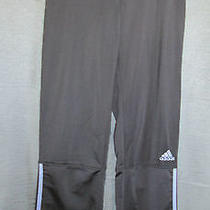 Adidas Athletic Black Workout Pants Women's Size Small Running Fitness Photo