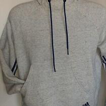 Adidas Athletic Pull Over Hoodie Size Xsmall Gray With Blue Accent  Photo
