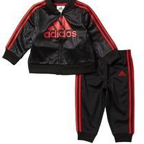 Adidas Baby Boys Tracksuit Set Black Red Size 6 Months Jacket Joggers 36 398 Photo