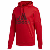 Adidas Badge Parker Fitness Training Men's Sport Hoody Scarlet - Size Large Usa Photo