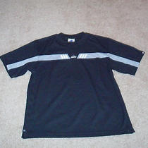 Adidas Black Athletic Running Lounge Shirt  Mens M Medium Free Ship Guc Photo