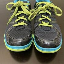Adidas Black Lime Green Blue Grey Running Shoes Women's 8.5 Style Yya 606001 Photo