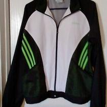 Adidas Black/white Lightweight Jacket Boys Size Large  Photo