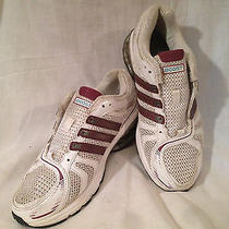 Adidas Boost 2 Women's Running Shoes - Size 8 - White & Purple Photo