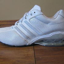 Adidas Boost Womens 8.5 White Cyan Silver Trim Photo