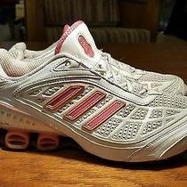Adidas Bounce Scorch White/pinkn Woman's Size 11 Running Shoes Photo