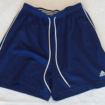 Adidas Boy's Navy Athletic Shorts Size Medium Free Shipping Photo