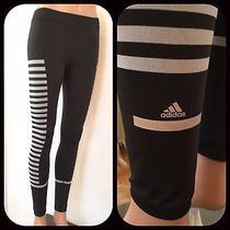 Adidas by Stella Mccartney Xs Yoga Running Tights Granite  White Piano Style Photo