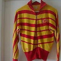 Adidas Carlo Gruber Red & Yellow Striped Knit Sweater/top. Sz S . Rare/unique Photo