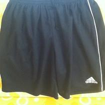 Adidas Children Black Polyester Shorts Size Med Excellent Condition Photo