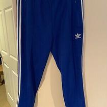 Adidas Classic Track Pants Small S - Royal Blue / White Photo