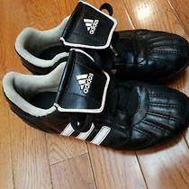 Adidas Cleats Soccer Shoes Kids Size 1 Black White Boys Girls Unisex  Photo