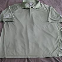 Adidas Clima Cool Polo Golf Shirt Green Men's Large Carolina Golf Club Photo