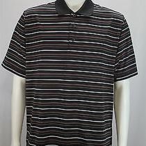 Adidas Climacool Men's Medium Ahwatukee Golf Country Club Stripe Ss Polo Shirt Photo