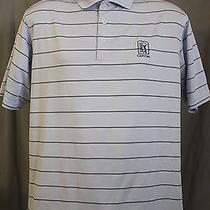 Adidas Climacool Men's Medium Tpc Canyons Vegas Golf Club Blue Stripe Polo Shirt Photo