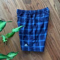 Adidas Climacool Tennis Athletic Shorts Boy's Size M Stretch Blue Euc Photo