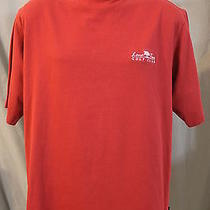 Adidas Climalite Men's Medium Lone Tree Golf Club Dark Red Mock Neck Ss Shirt Photo