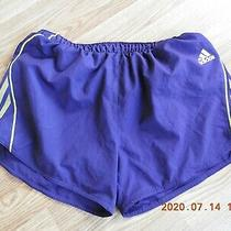 Adidas Climalite Women's 100%Polyester Purple & Yellow Sport Shorts Size L Photo