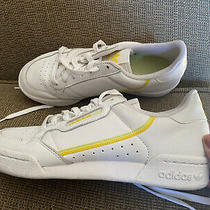Adidas Continental Sz 8 Sneakers White Yellow Green Urban Outfitters Photo