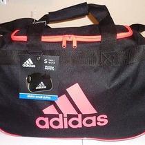 Adidas Diablo Small Duffel  Gym Bag Black Orange Photo